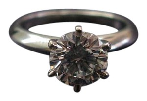 Tiffany & Co. Tiffany & Co PLAT Round Diamond Solitaire Engagement Ring 1.26CT D-VS1