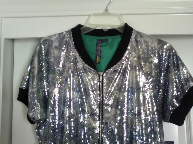 Koture By Kamura Sequin Silver Jacket