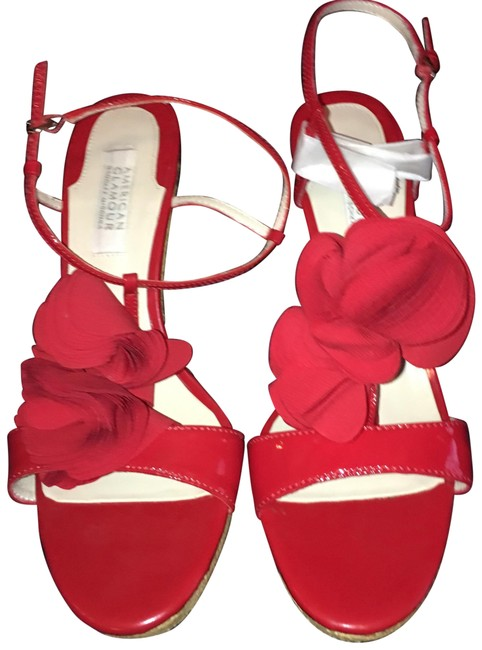Item - Red American Glamour Wedges Size US 10 Regular (M, B)