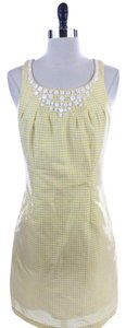 Ice Checkered Silk Size 8 Dress