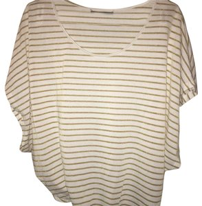 Velvet by Graham & Spencer T Shirt white and gold