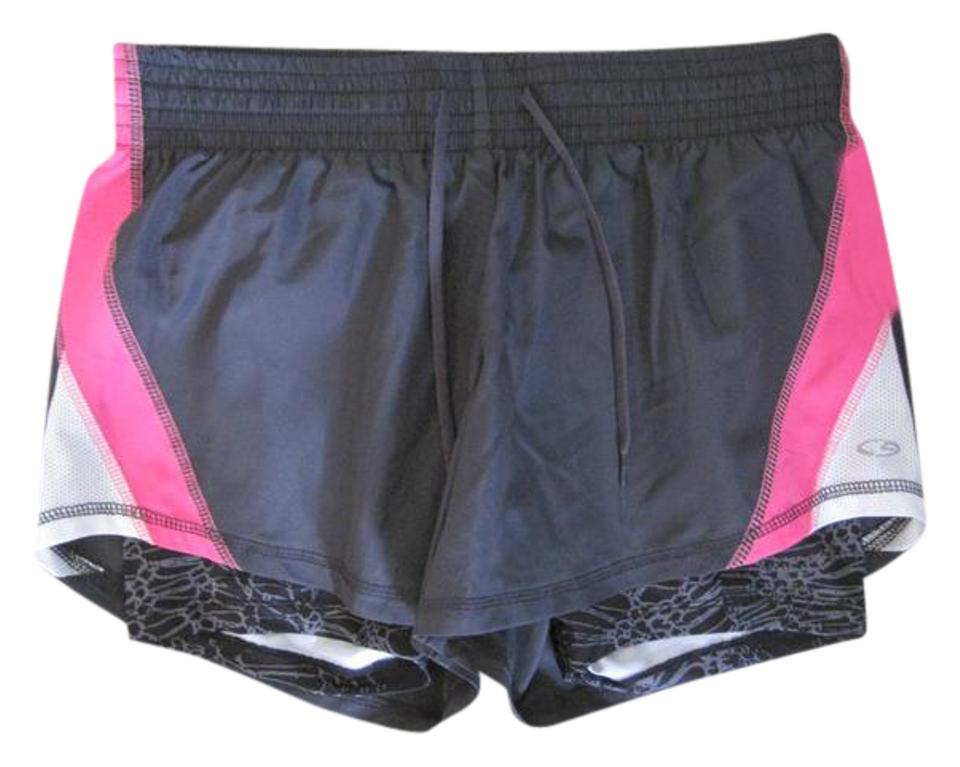 4bed34639103 Champion C9 by CHAMPION WOMENS GRAY PINK ATHLETIC WORK OUT SHORTS BICYCLE  SHORT Image 0 ...