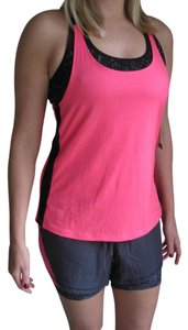 Champion C9 by CHAMPION WOMENS HOT PINK BLACK ATHLETIC WORK OUT TANK BUILT IN B