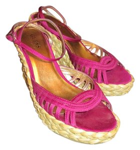 Guess By Marciano Platform Fuchsia, Magenta, Pink Wedges