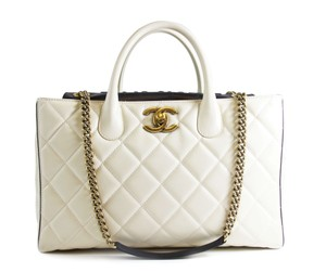Chanel Tote in Ivory with gold hardware