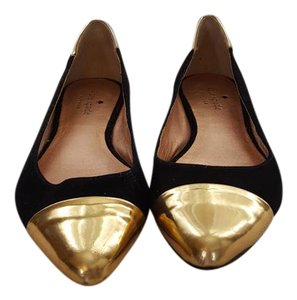 Kate Spade Black and Gold Flats