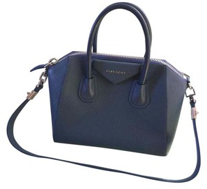 Givenchy Antigona Leather Blue Satchel in Mineral Blue