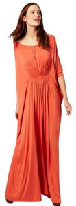 Orange Maxi Dress by ASOS Greek Goddess Bat-wing Sleeves Drape-y Summer Party Chic
