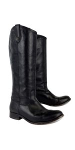 Frye Black Leather Melissa Button Boots