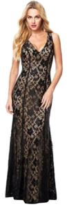 Alloy Apparel Lace Plunge Fitted Dress