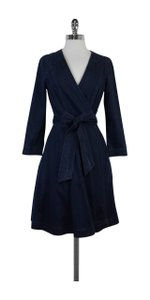 Diane von Furstenberg short dress Christa Denim Wrap on Tradesy