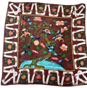Metropolitan Museum of Art Womens Metropolitan Museum of Art Quin Tree Silk Scarf Made in Japan