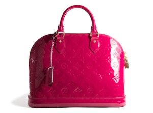 Louis Vuitton Lv Alma Lv Lv Vernis Leather Lv Alma Lv Pink Alma Tote in Indiana rose (pink)