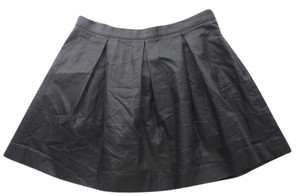 French Connection Jeans Faux Leather Size Mini Skirt Black