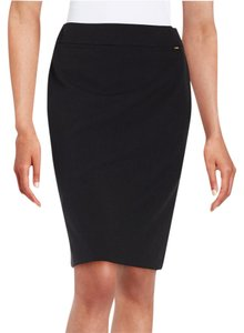 Tahari Pencil Welt Pockets Skirt Black
