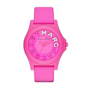 Marc Jacobs Marc Jacobs Women's Sloane Pink Silicone Watch MBM4023