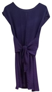 Rebecca Taylor short dress Purple Wrap on Tradesy