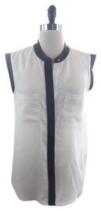 Rock & Republic short dress White Faux Black Leather Sleeveless on Tradesy