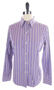Ralph Lauren Striped Shirt Size Button Down Shirt Purple