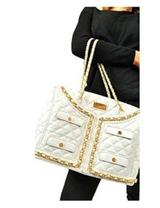 Carmin Boutique White Tote in Ivory