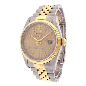 Rolex Rolex Datejust 16233 Stainless Steel 18k Yellow Gold Jubilee Automatic