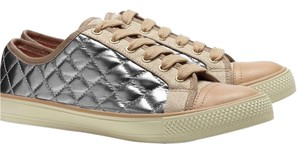 Tory Burch Metallic silver and tan Athletic