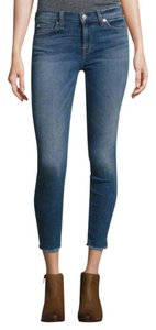 7 For All Mankind Ankle Designer Skinny Jeans-Medium Wash