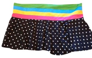 Raisins Raisins Women's Rainbow Black White Polka Dot Swim Skirt Swimsuit Cove