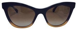 Chanel Cat Eye Polarized Black and Brown Gradient Chanel Sunglasses 5350 54