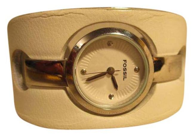 Fossil White & Silver Cuff Watch Fossil White & Silver Cuff Watch Image 1
