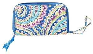 Vera Bradley Wristlet in Capri blue purple