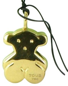TOUS 18K Basics 18mm Bear Pendant on 16