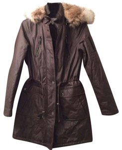 Laundry by Shelli Segal Fur Faux Fur Winter Windbreaker Stone Jacket