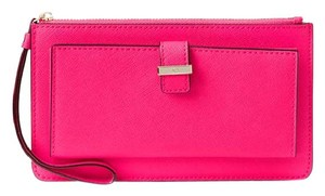 Kate Spade Leather Cedar Street Karolina Wristlet in Pink Confetti