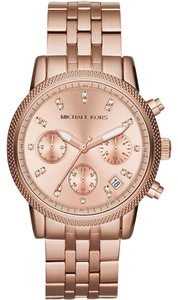 Michael Kors Michael Kors Women's Rose Gold-Tone Ritz Watch MK6077