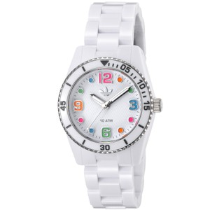 adidas Adidas Unisex ADH2941 Brisbane White Watch with Silicone Strap