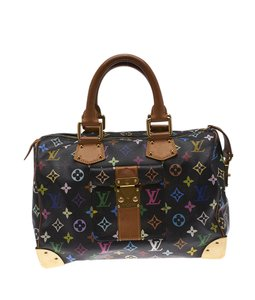 Louis Vuitton Monogram Coated Canvas Satchel in Black