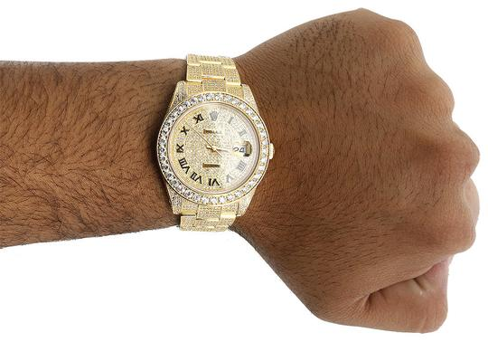 Rolex Custom Watch Rolex Date Just Flooded Genuine Diamonds 45 MM 15.50 CT. Image 8