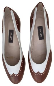 Bally Brown & White Pumps
