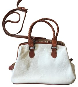 Fossil Satchel in cream brown