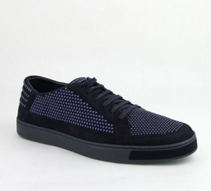 Gucci Dark Blue Suede Leather Bubble Studs Lace-up Sneaker 11g/ Us 12 391688 4018 Shoes