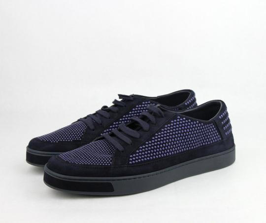 Gucci Dark Blue Suede Leather Bubble Studs Lace-up Sneaker 11g/ Us 12 391688 4018 Shoes Image 1