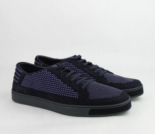 Gucci Dark Blue Suede Leather Bubble Studs Lace-up Sneaker 11g/ Us 12 391688 4018 Shoes Image 3