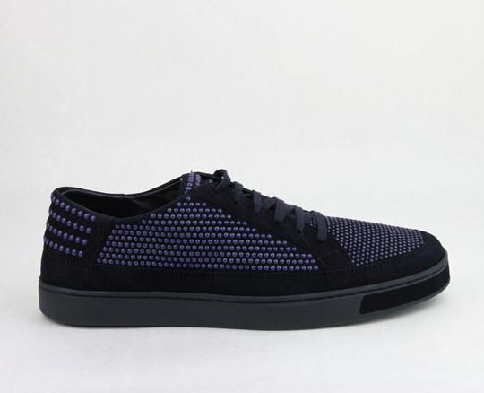 Gucci Dark Blue Suede Leather Bubble Studs Lace-up Sneaker 11g/ Us 12 391688 4018 Shoes Image 5