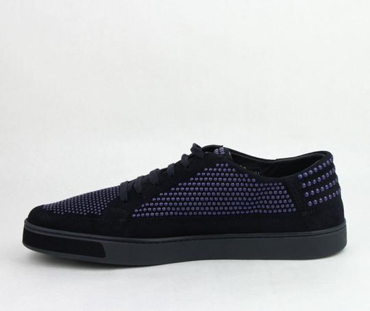 Gucci Dark Blue Suede Leather Bubble Studs Lace-up Sneaker 11g/ Us 12 391688 4018 Shoes Image 6
