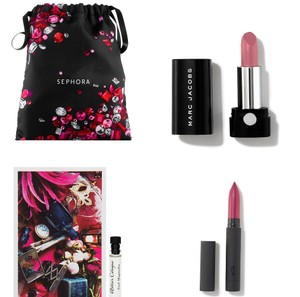 Marc Jacobs Bite Beauty and Marc Jacobs lipsticks and perfume set from Sep[hora