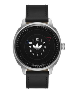 adidas adidas Originals Mens Black Leather Strap Black Dial ADH3126