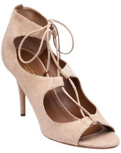Aquazzura Lace Up Suede nude Pumps