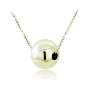 9.2.5 Stunning 14k dipped 925 ball necklace new