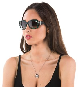 Chopard NEW Chopard Women Sunglasses Happy Spirit Crystal Marble Green Shades